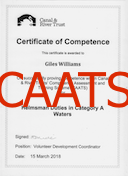 Canal & River Trust Competency Certificate